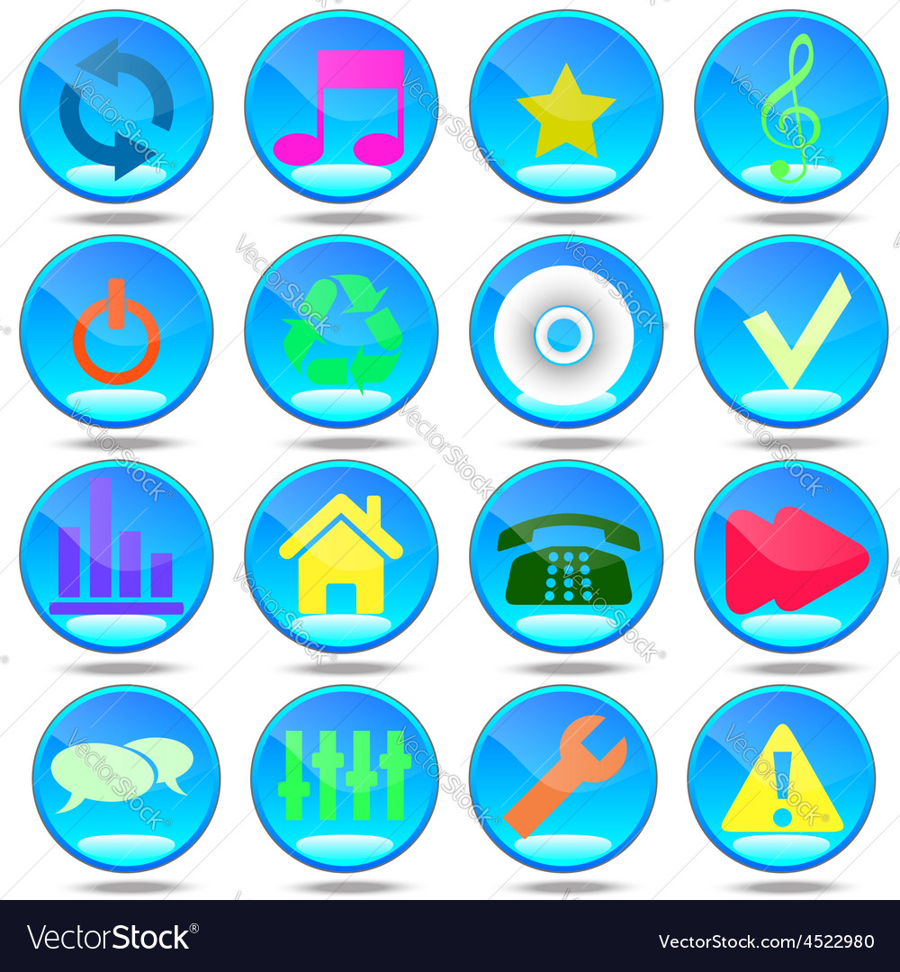 Audio group house badge tool button user mass medi vector | Price: 1 Credit (USD $1)