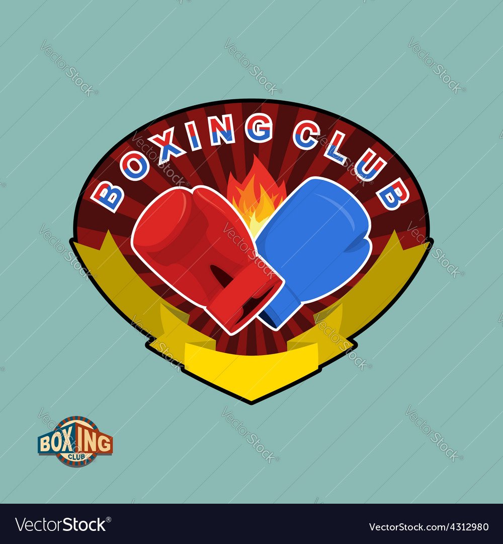 Boxing emblem logo boxing club vector | Price: 1 Credit (USD $1)