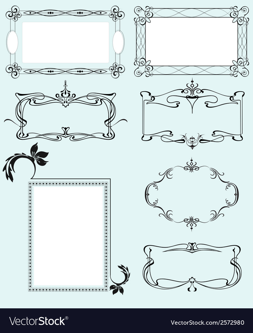 Collection of ornate frames vector | Price: 1 Credit (USD $1)