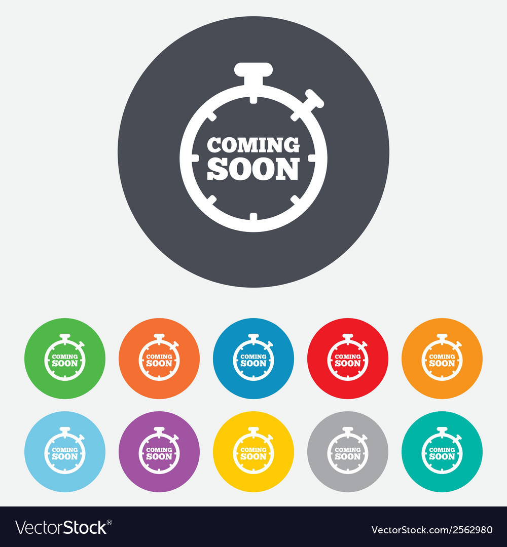 Coming soon icon promotion announcement symbol vector | Price: 1 Credit (USD $1)
