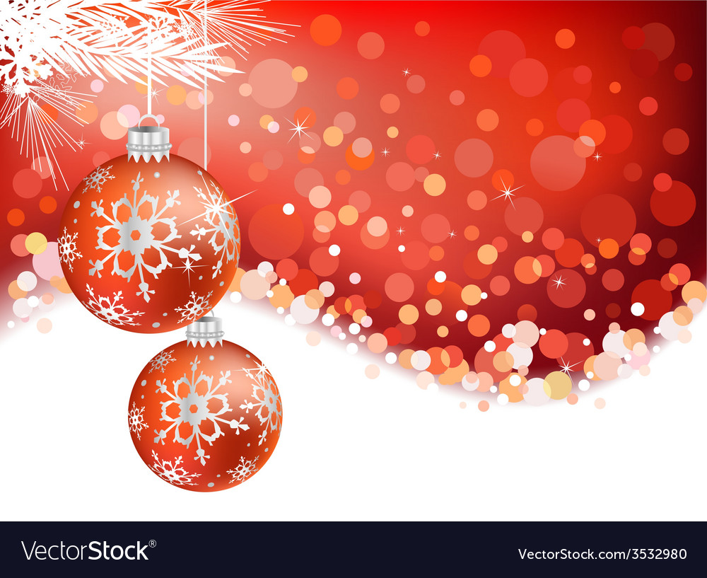 Festive christmas background vector | Price: 1 Credit (USD $1)