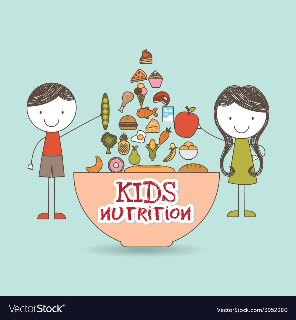 Kids nutrition vector | Price: 1 Credit (USD $1)
