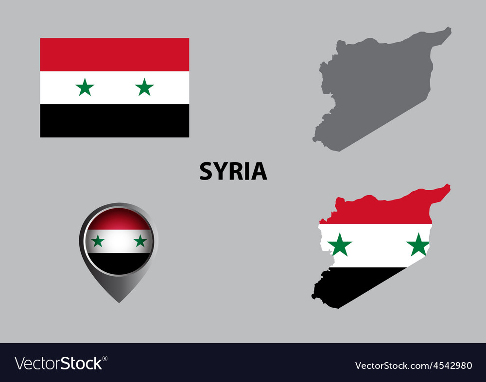 Map of syria and symbol vector | Price: 1 Credit (USD $1)