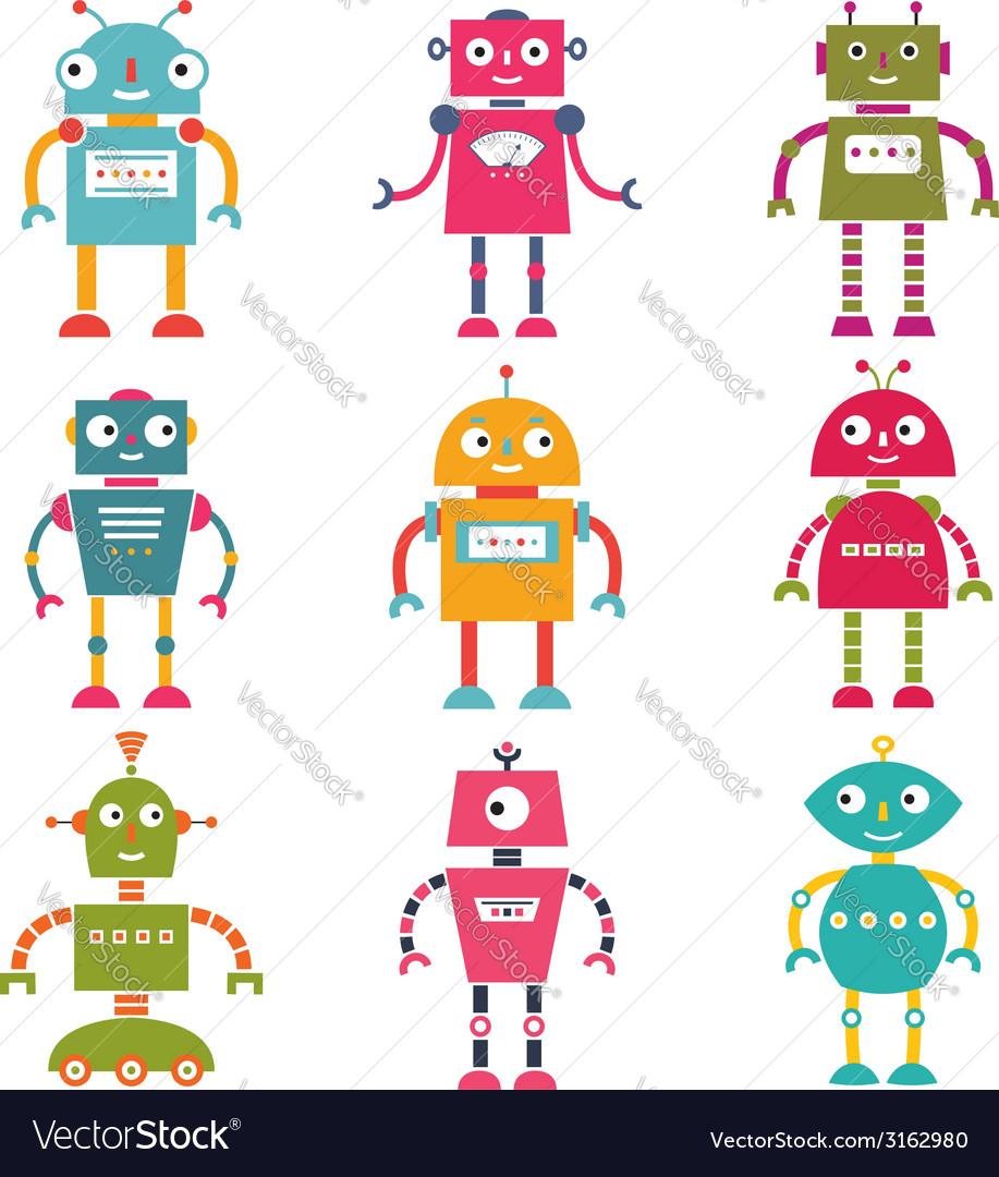 Robots set vector   Price: 1 Credit (USD $1)
