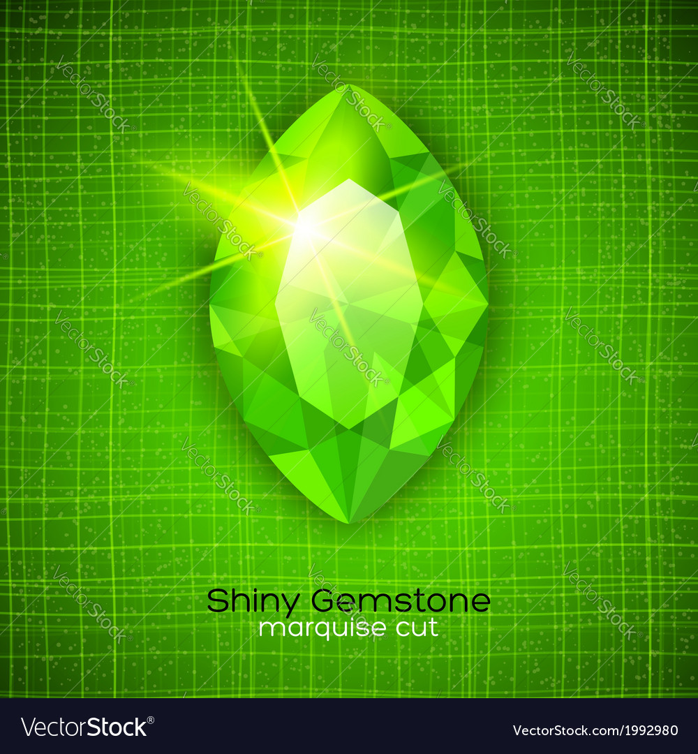 Shiny emerald on textured background vector | Price: 1 Credit (USD $1)