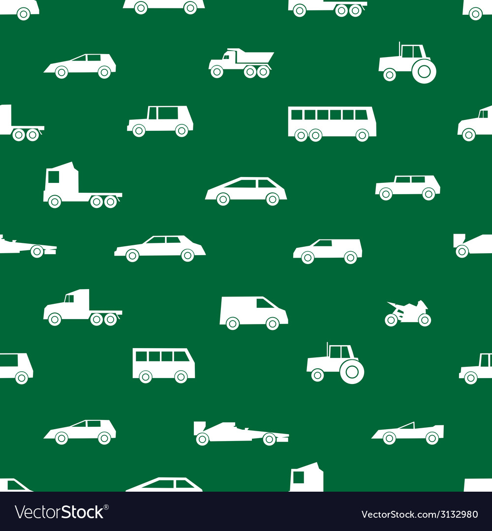 Simple cars black silhouettes icons pattern eps10 vector | Price: 1 Credit (USD $1)
