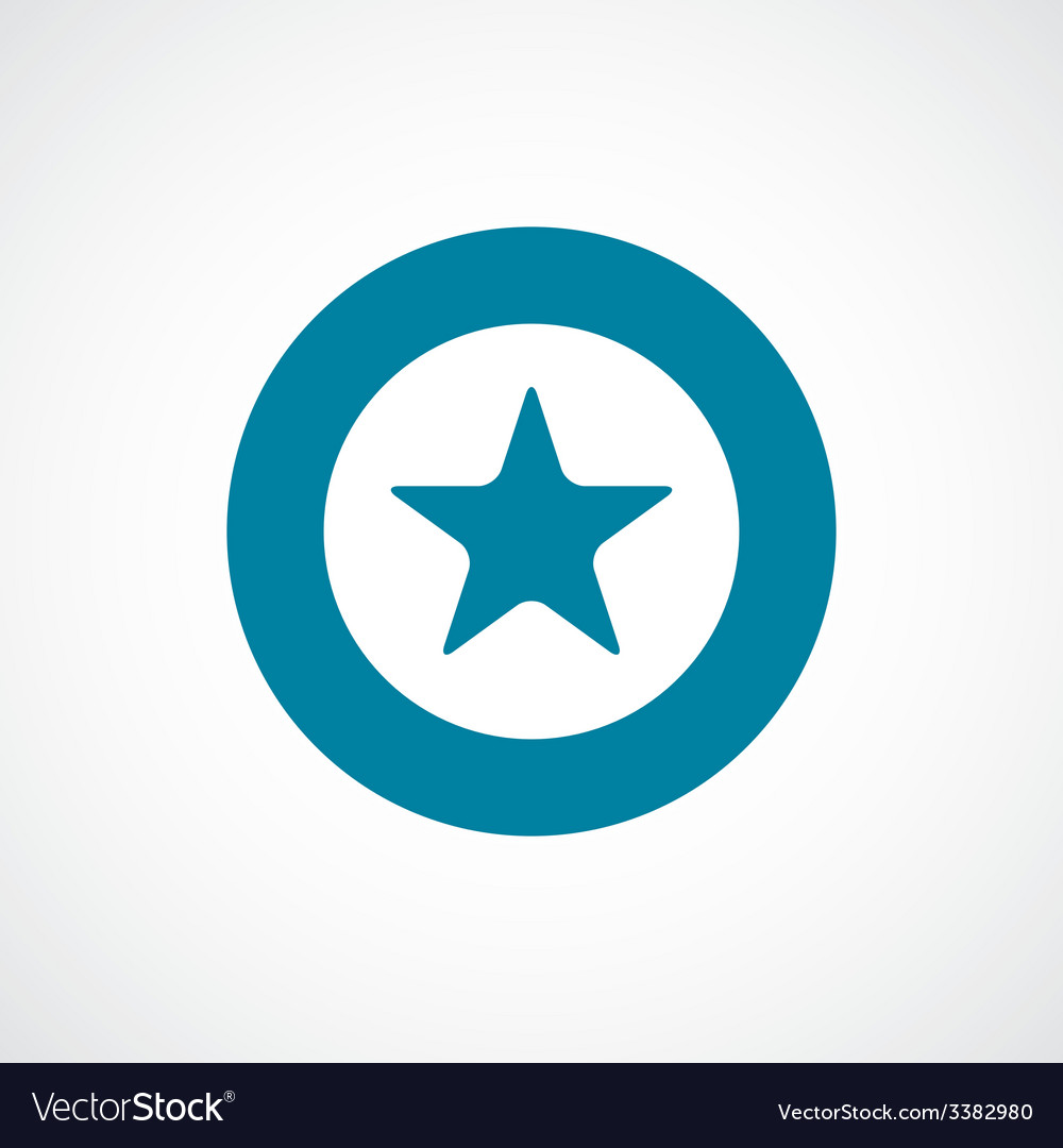 Star bold blue border circle icon vector | Price: 1 Credit (USD $1)
