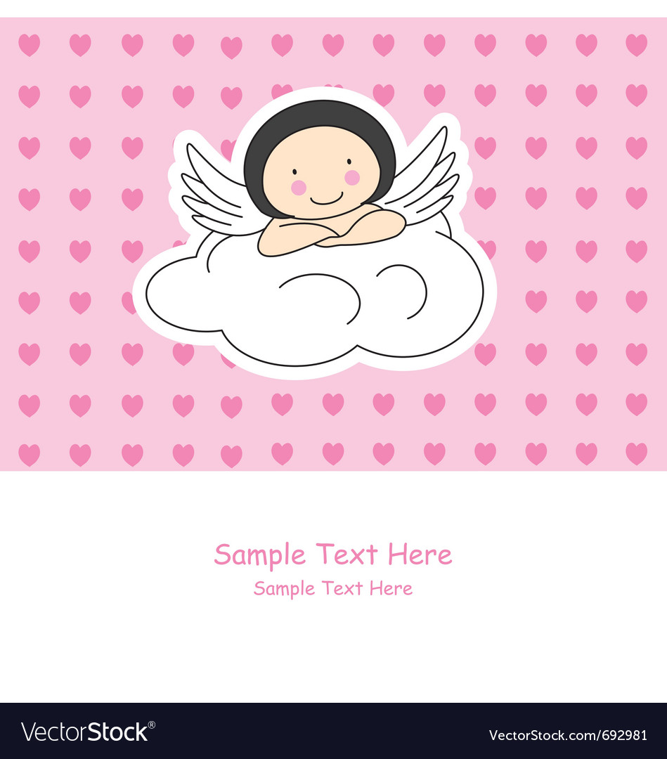 Angel wings on a cloud vector | Price: 1 Credit (USD $1)