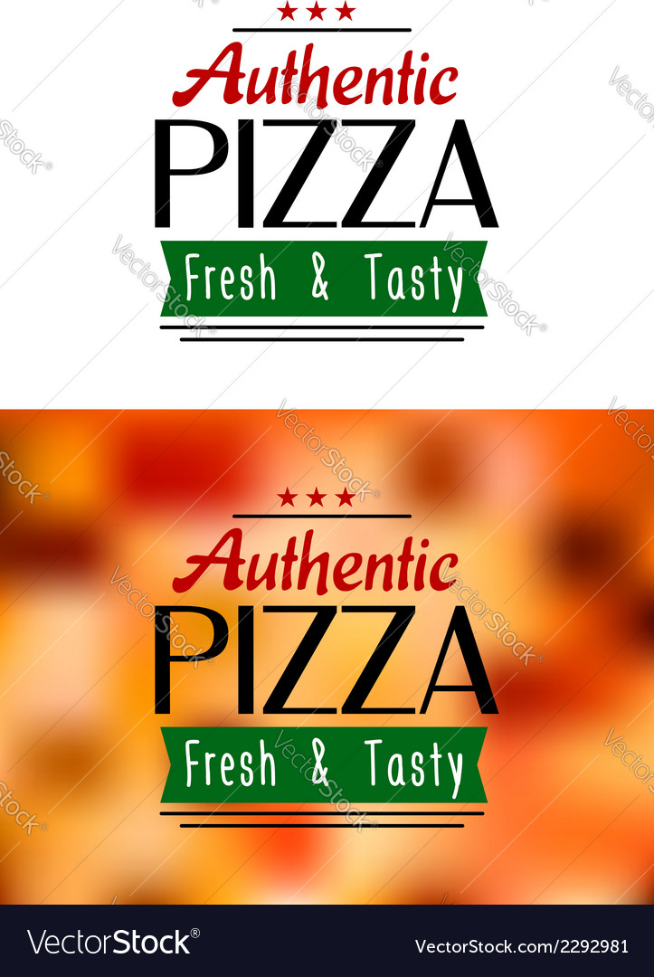Authentic pizza labels vector | Price: 1 Credit (USD $1)
