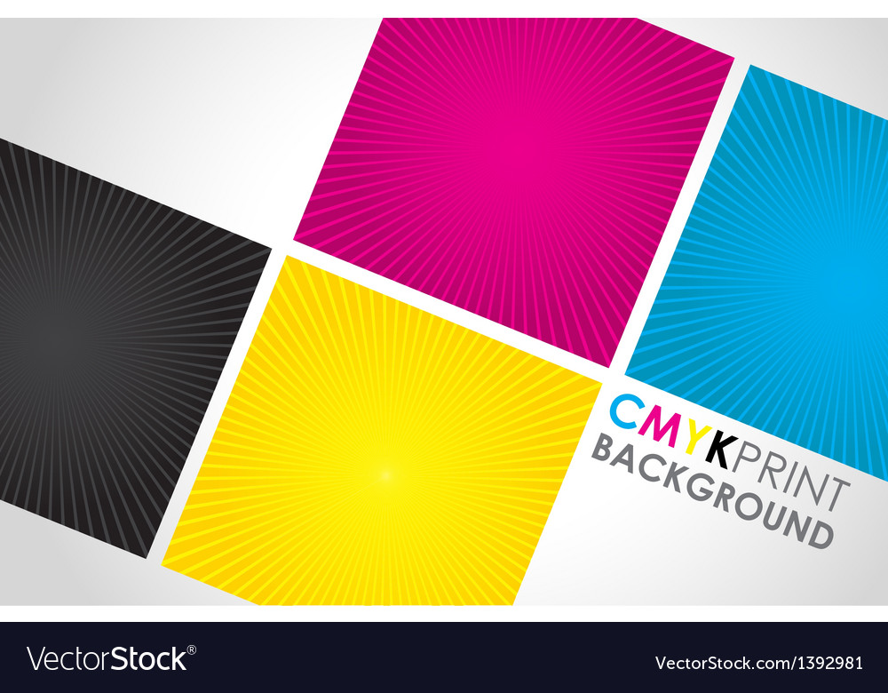 Cmyk spiral boxes vector | Price: 1 Credit (USD $1)