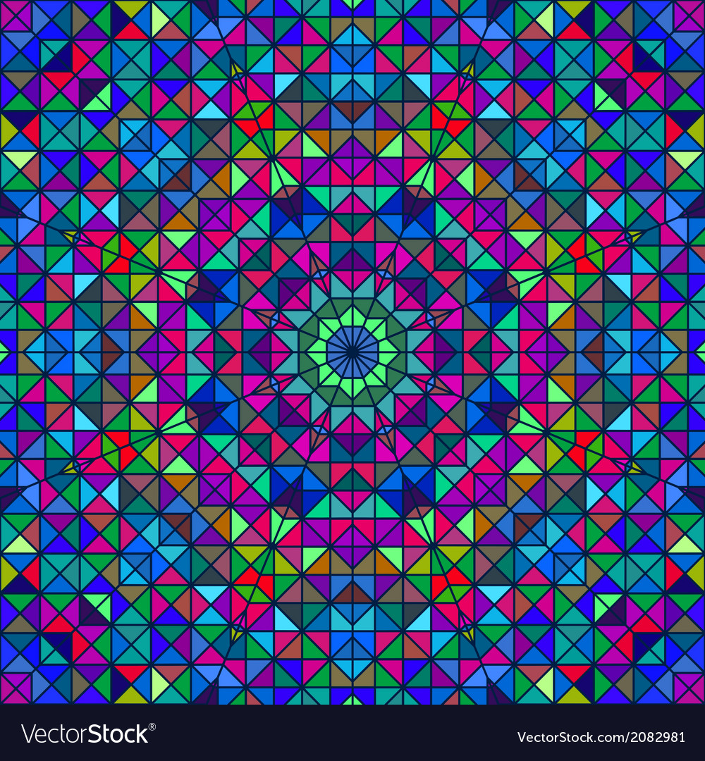 Color abstract geometric pattern vector | Price: 1 Credit (USD $1)