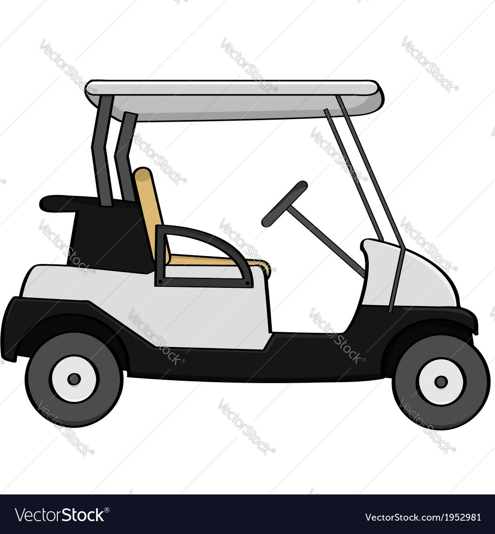 Golf cart vector | Price: 1 Credit (USD $1)