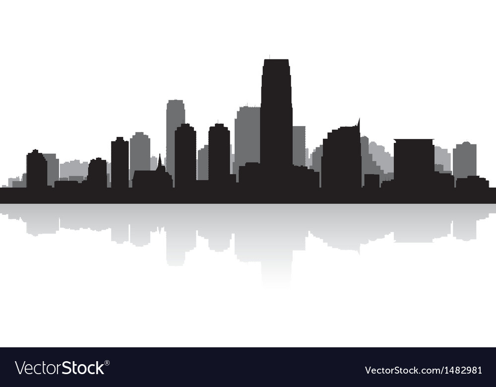 Jersey city usa skyline silhouette vector | Price: 1 Credit (USD $1)