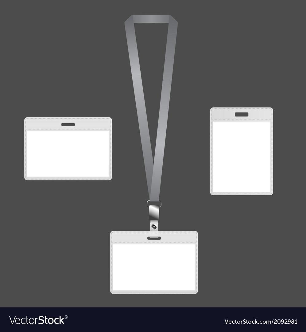 Lanyard badges vector | Price: 1 Credit (USD $1)