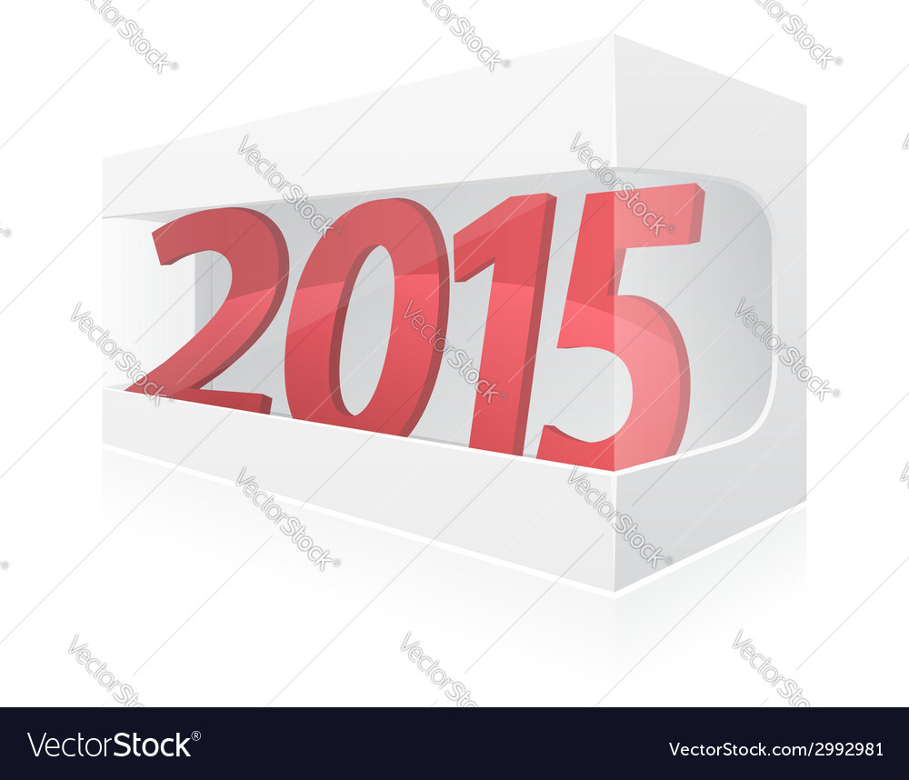 New year packing box vector | Price: 1 Credit (USD $1)