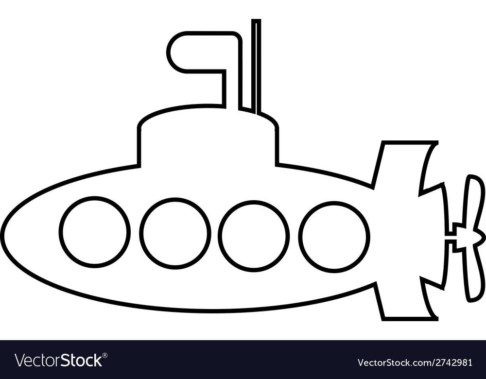 Submarine icon vector | Price: 1 Credit (USD $1)