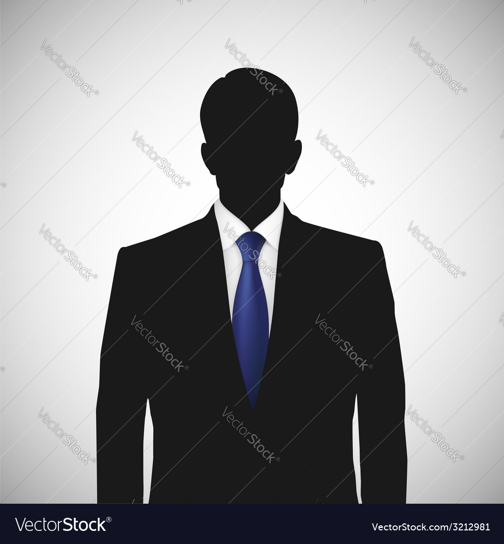 Unknown person silhouette whith blue tie vector | Price: 1 Credit (USD $1)