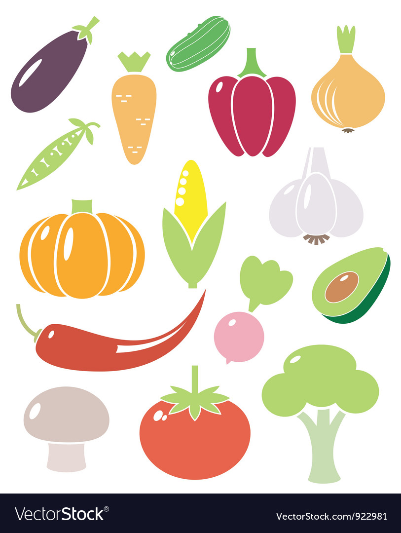 Vegetables iconsset vector | Price: 1 Credit (USD $1)