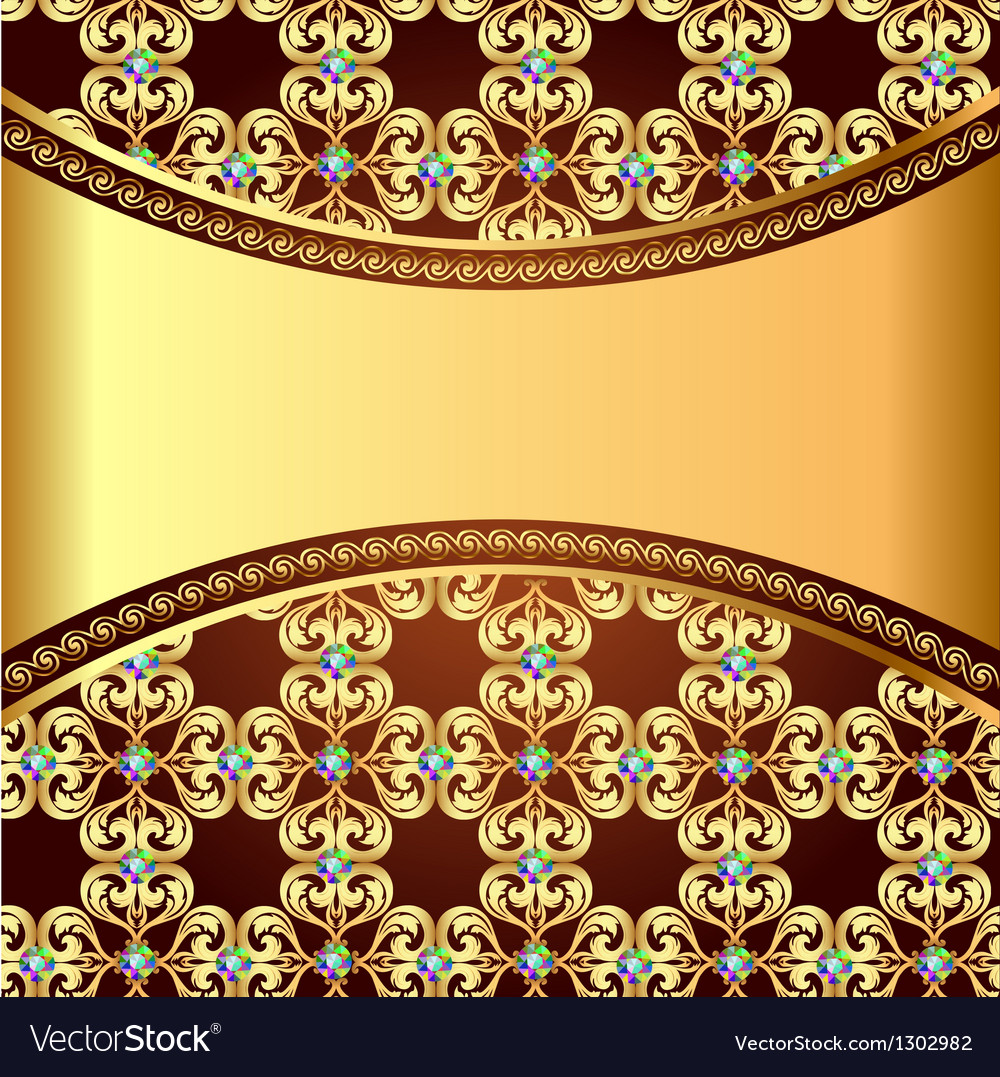 Background frame with precious stones and the band vector | Price: 1 Credit (USD $1)