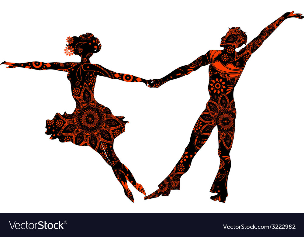 Ballroom couple vector | Price: 1 Credit (USD $1)