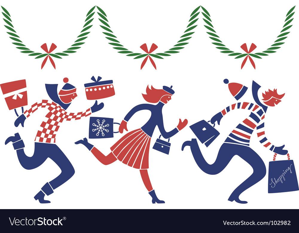 Christmas rush vector   Price: 1 Credit (USD $1)