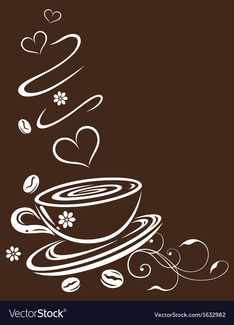 Coffee cup background vector | Price: 1 Credit (USD $1)