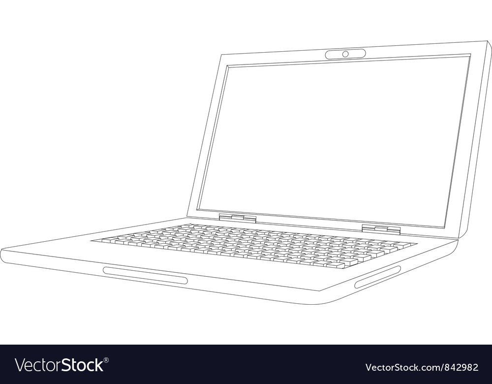 Curve laptop vector | Price: 1 Credit (USD $1)