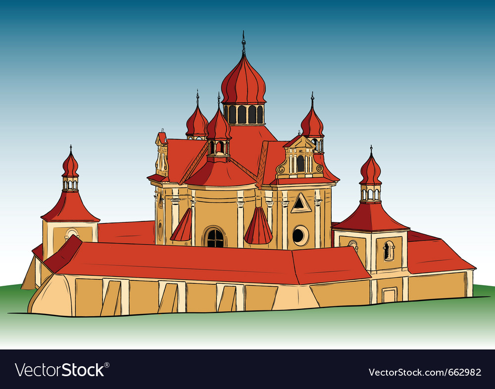 Europe church vector | Price: 3 Credit (USD $3)