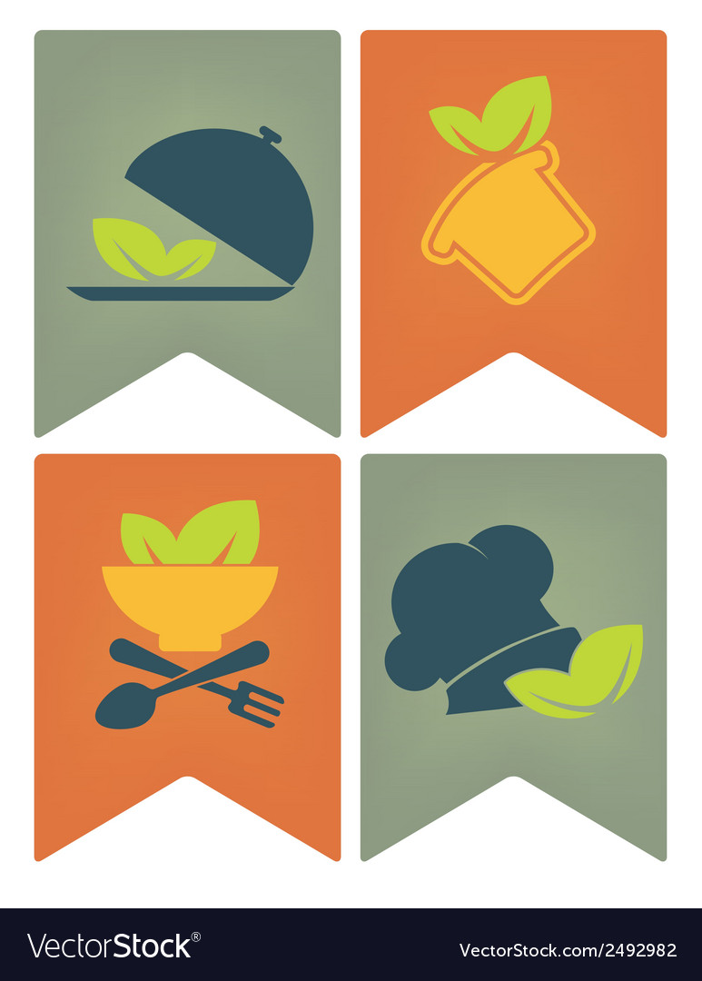 Food flags vector | Price: 1 Credit (USD $1)