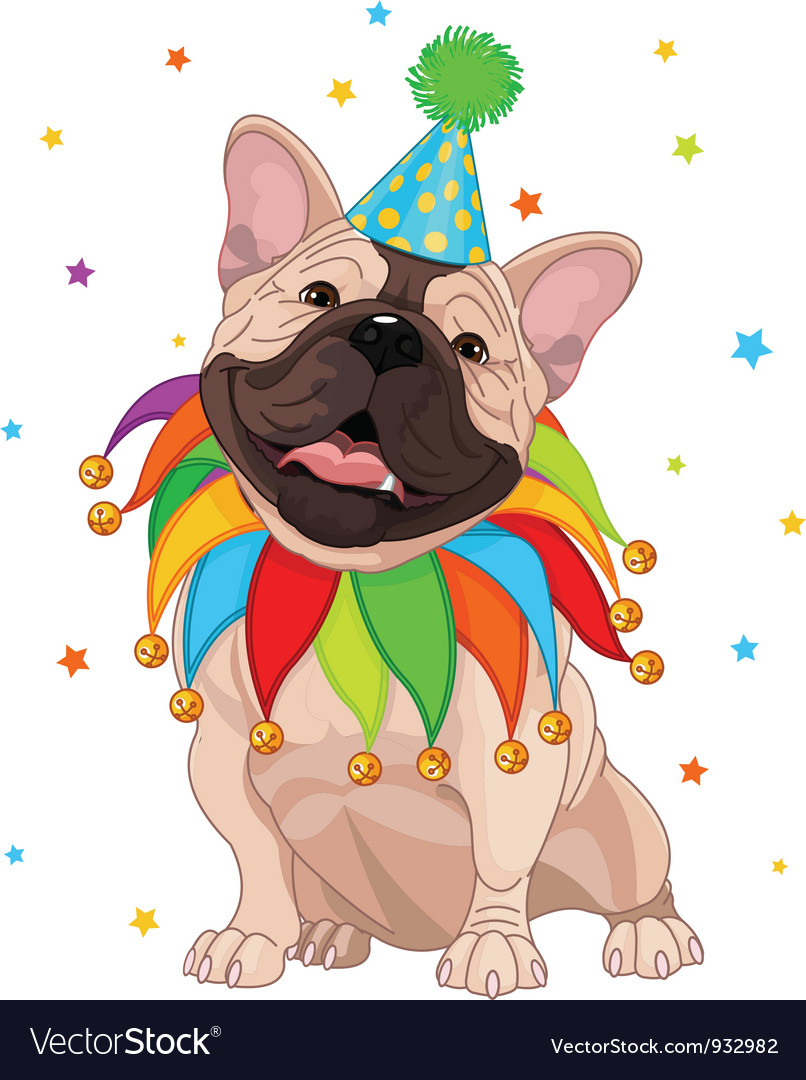 French bulldog birthday vector | Price: 3 Credit (USD $3)