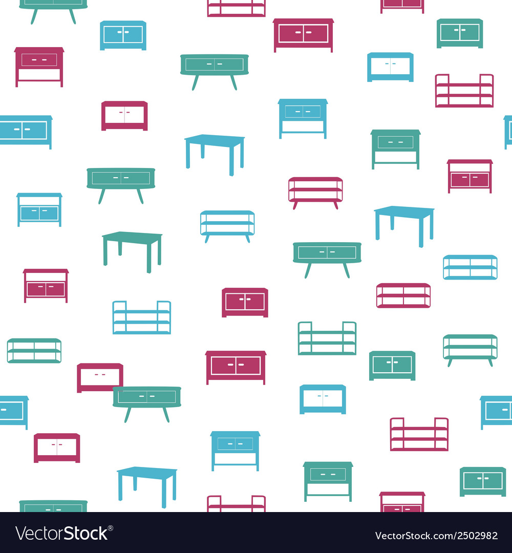 Furniture seamless pattern vector | Price: 1 Credit (USD $1)