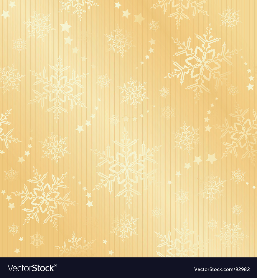 Golden snow flake winter pattern vector | Price: 1 Credit (USD $1)