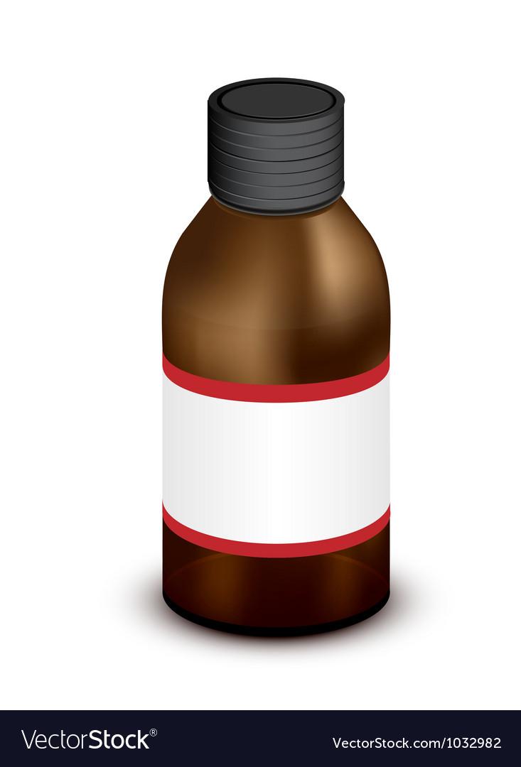 Medicine bottle vector | Price: 1 Credit (USD $1)