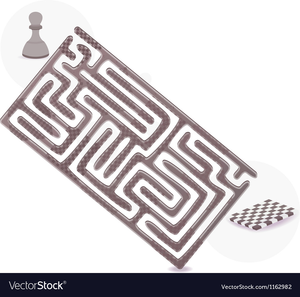 Pawn maze vector | Price: 1 Credit (USD $1)