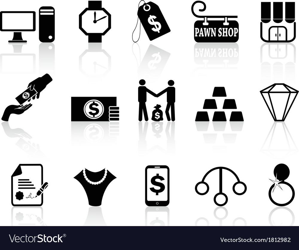 Pawn shop icons set vector | Price: 1 Credit (USD $1)
