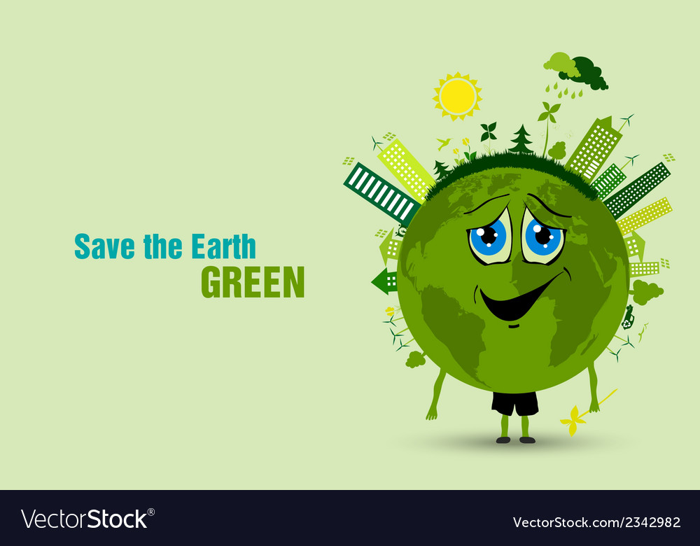 Saving the earth ecology concept vector | Price: 1 Credit (USD $1)