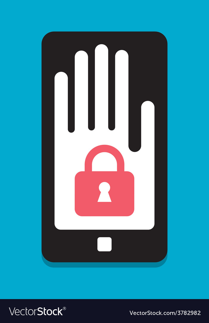 Smart phone security concept vector | Price: 1 Credit (USD $1)