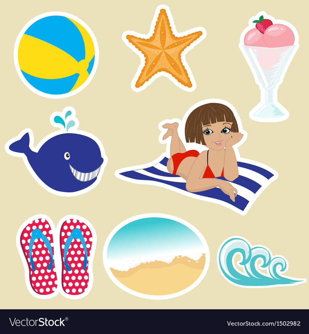 Summer tropical banner vector | Price: 3 Credit (USD $3)