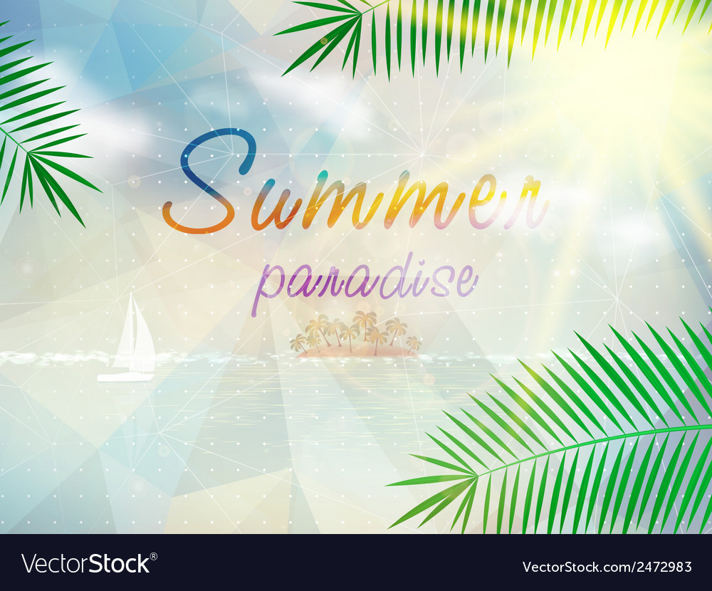 Abstract seaside view poster template vector   Price: 1 Credit (USD $1)
