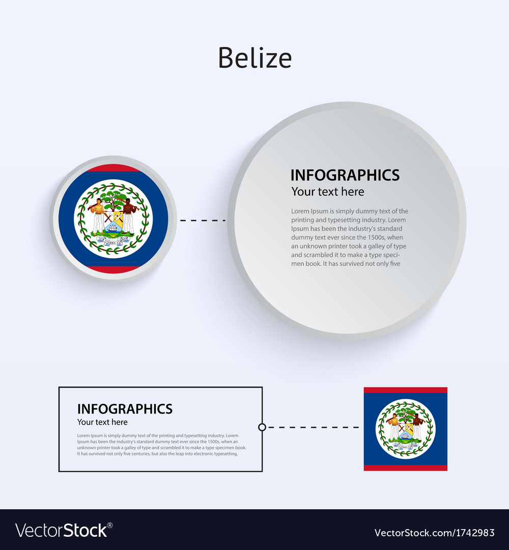 Belize country set of banners vector | Price: 1 Credit (USD $1)