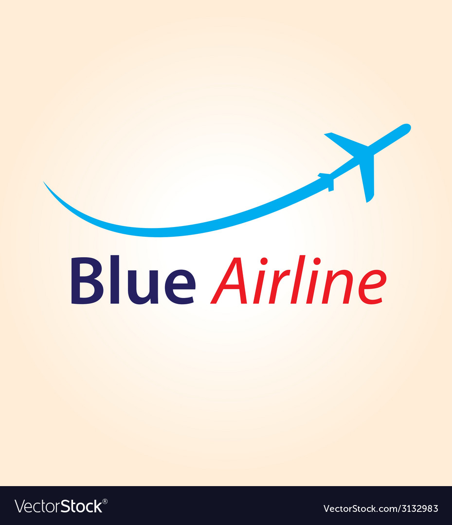 Blue airline logo vector | Price: 1 Credit (USD $1)