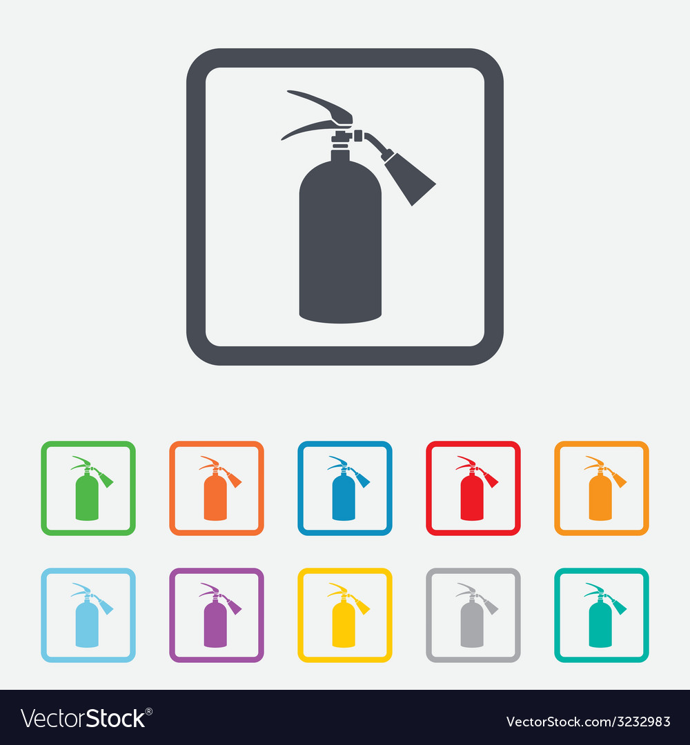 Fire extinguisher sign icon fire safety symbol vector | Price: 1 Credit (USD $1)