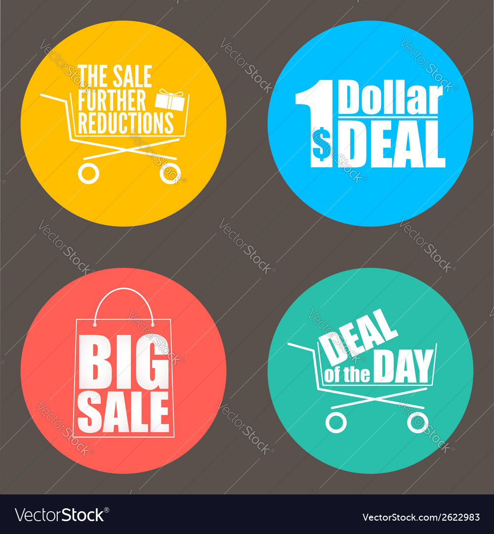Flat design sale discount background vector | Price: 1 Credit (USD $1)