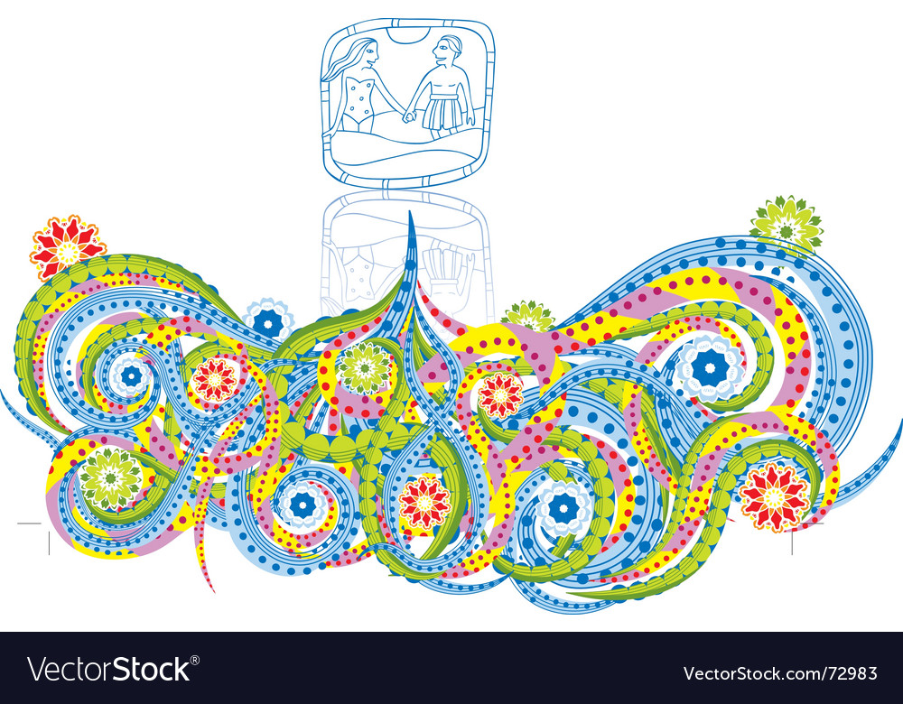 Floral tangle vector | Price: 1 Credit (USD $1)