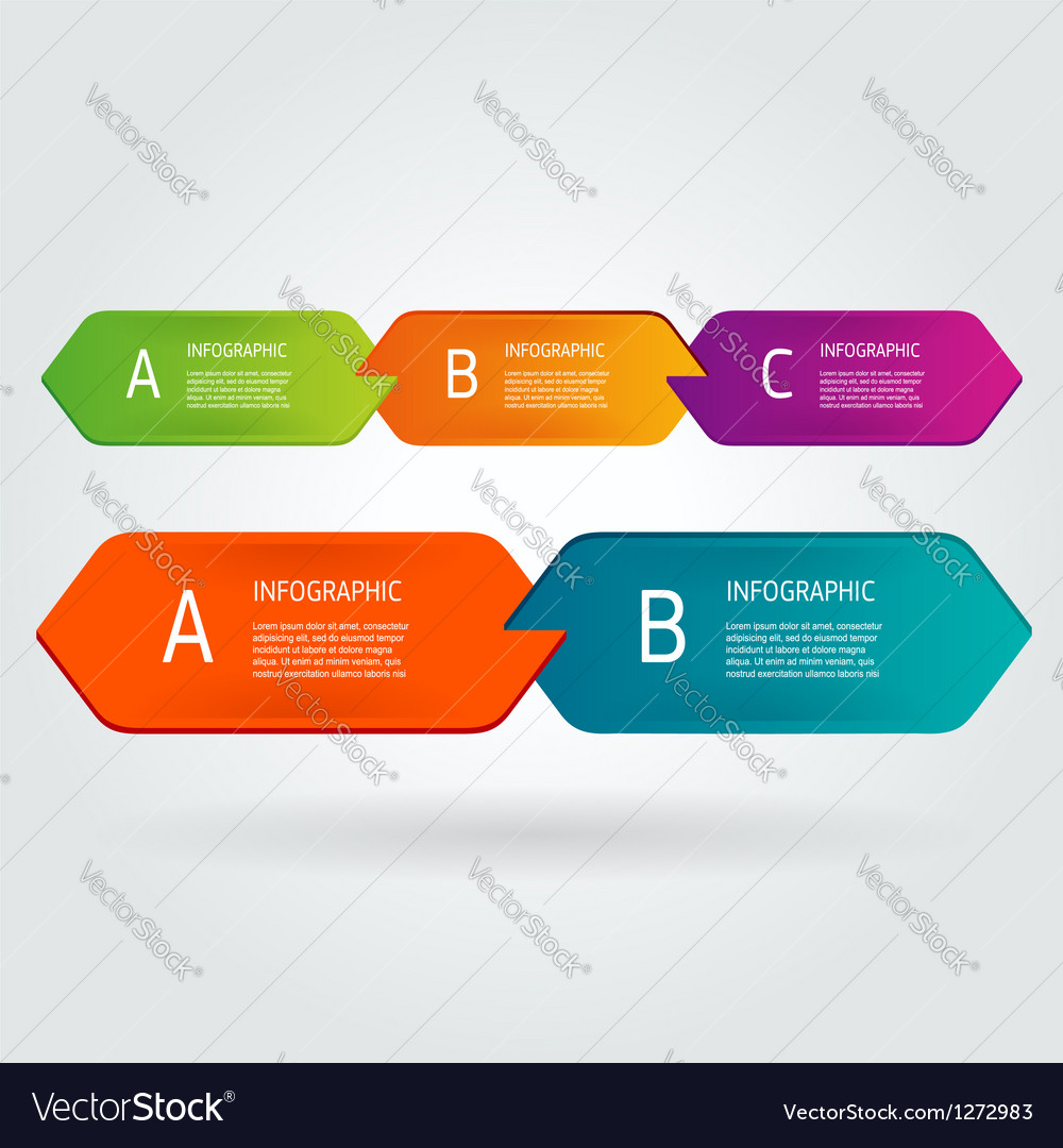 Modern number list infographic banner vector | Price: 1 Credit (USD $1)