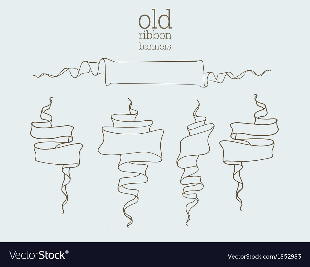 Old banners vector | Price: 1 Credit (USD $1)