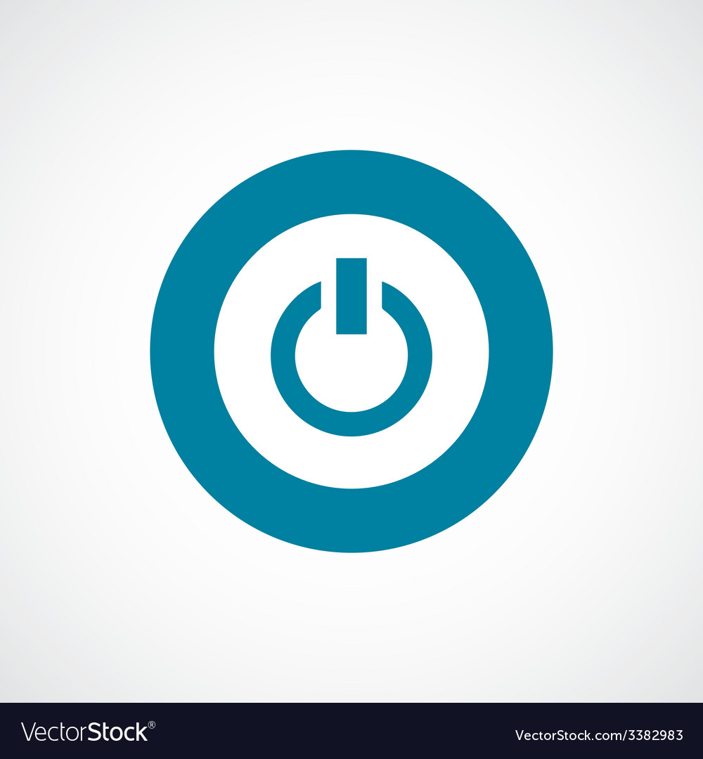 Power on bold blue border circle icon vector | Price: 1 Credit (USD $1)