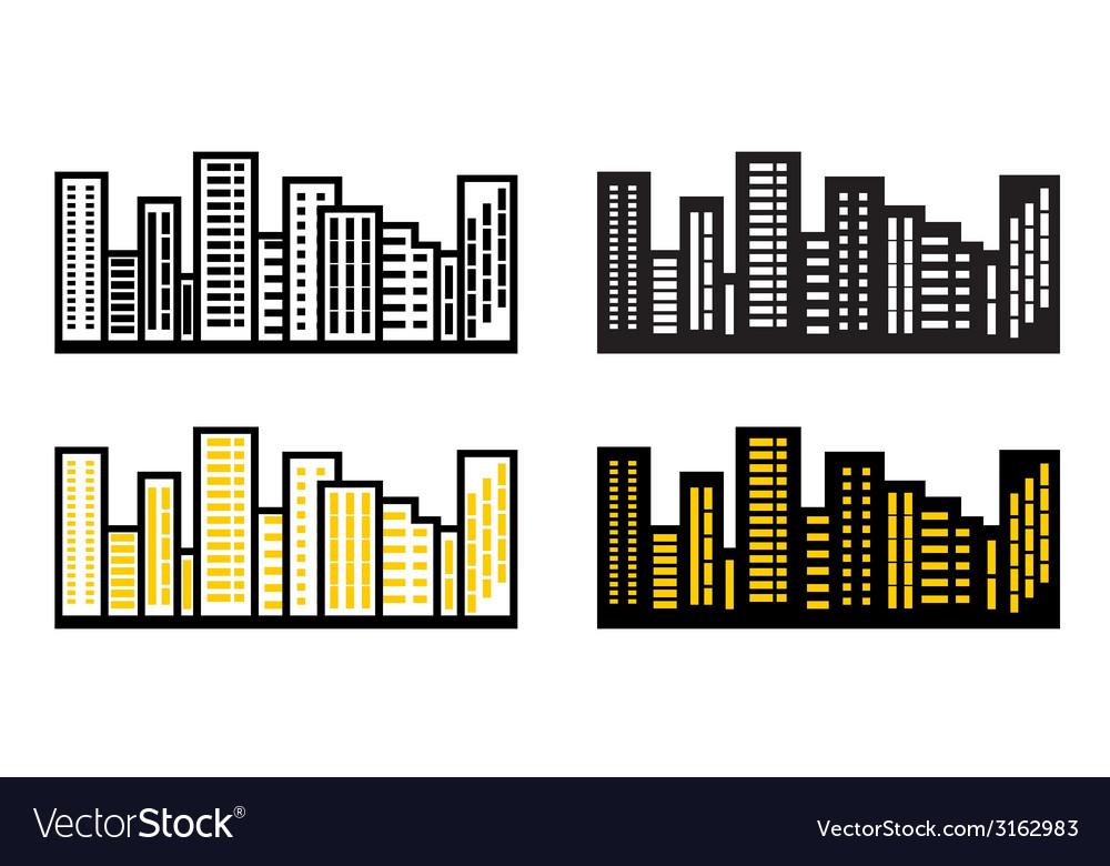 Silhouettes cityscapes vector   Price: 1 Credit (USD $1)