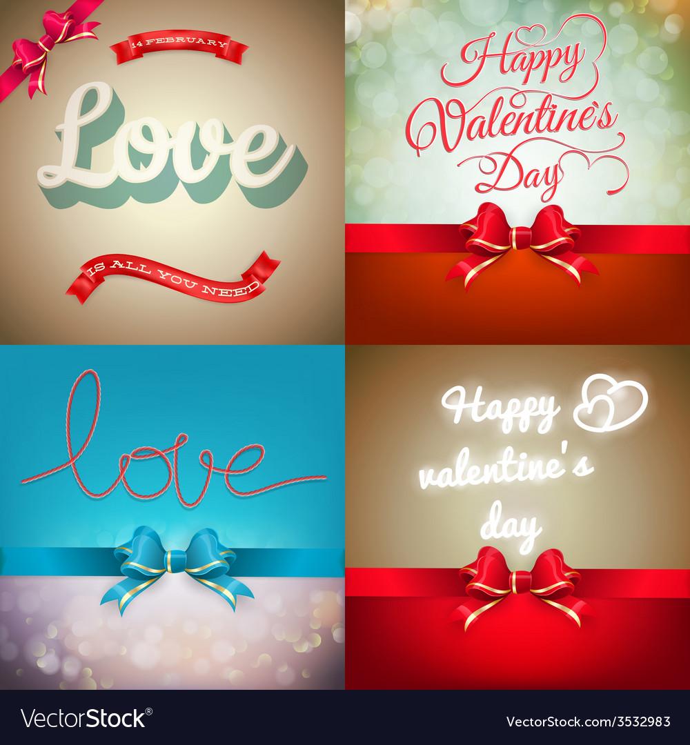 Valentine card set eps 10 vector | Price: 3 Credit (USD $3)