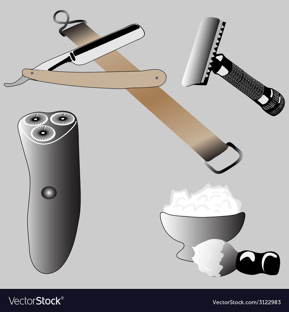 Various accessories shaving vector | Price: 1 Credit (USD $1)